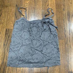 2/$15 Like New Hollister Lace Tank Top Gray XS